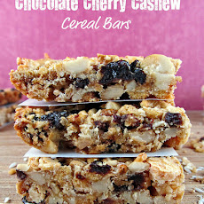 White Chocolate Cherry Cashew Cereal Bars