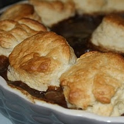 Slow cooked Beef Cobbler