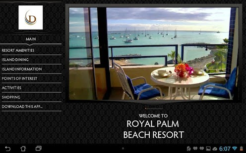 Royal Palm Beach Resort Tablet - screenshot
