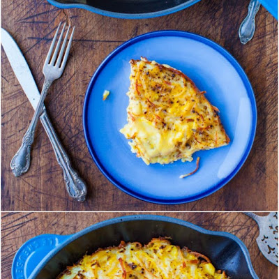 Creamy and Crispy Hash Browns Frittata (vegetarian, gluten-free)