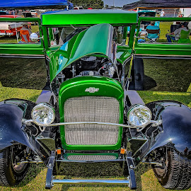 Green Two Toned Chevy by Ron Meyers - Transportation Automobiles