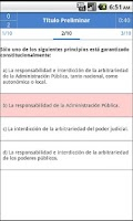 Screenshot of Constitución Española. Tests