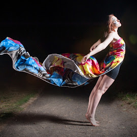 Flow by Dave Lord - People Fashion ( lean, female, colorful, dress, flow )