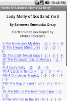 Screenshot of Works of Baroness Emma Orczy