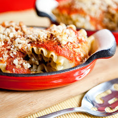 Eggplant and Pine Nut Rolled Lasagna