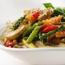 Stir Fried Sesame Vegetables with Rice
