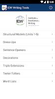 Screenshot of IEW Writing Tools