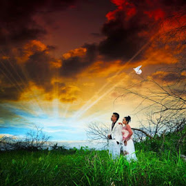 Malaysian Wedding by Kesan Khas - Wedding Bride ( love, malaysian, explore, people, wedding portrait, colours )