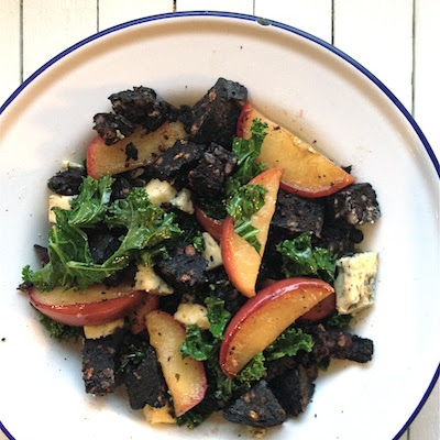 Black Pudding, Apple and Kale Salad