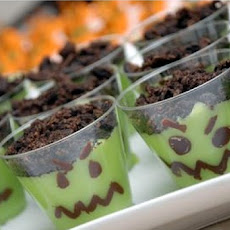 Scary Halloween Pudding Cups