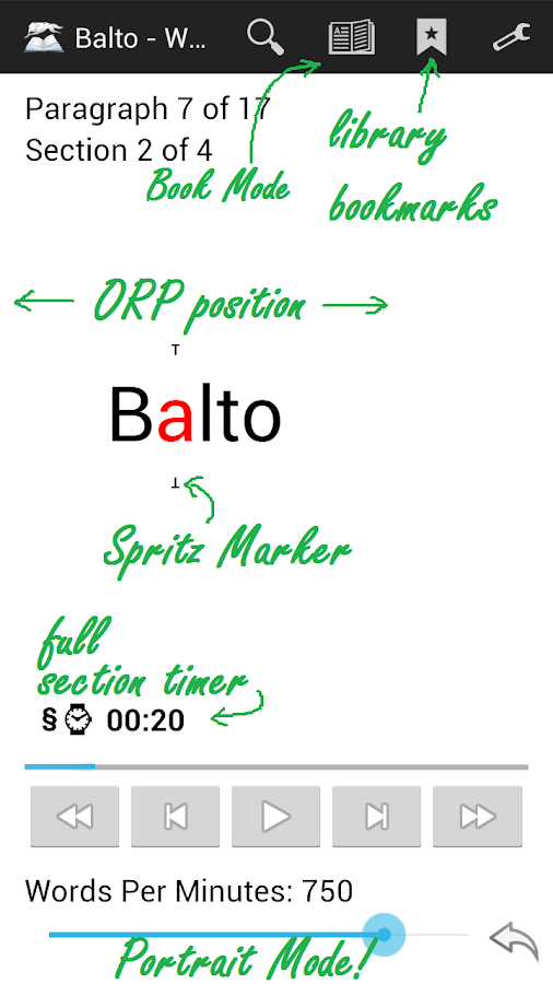 Balto Speed Reading Screenshot 3