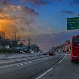by Rudy Harijanto - City,  Street & Park  Street Scenes