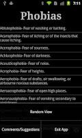 Screenshot of Phobias