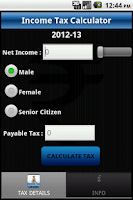 Screenshot of India Income Tax Calc Pro