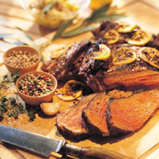 Leg of Lamb with Lemon-Bay Marinade