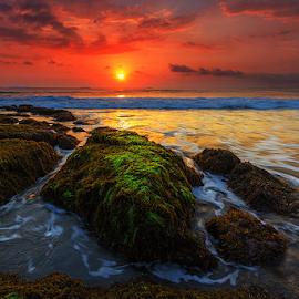 Good bye, Sun by Budi Astawa - Landscapes Sunsets & Sunrises ( bali, sunset, jembrana, west bali, beach, negara )
