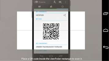 Screenshot of Threema QR Scanner Plugin