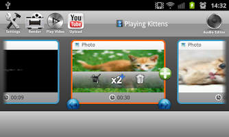 Screenshot of Andromedia Video Editor