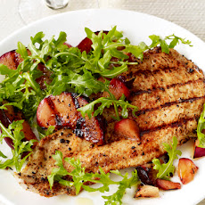Turkey Cutlets With Plum Salad
