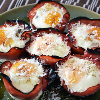 Ham & Egg Cups with Feta