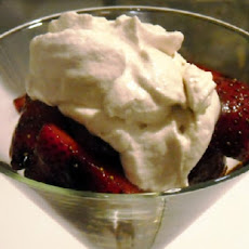 Balsamic Strawberries with Whipped Mascarpone Cheese