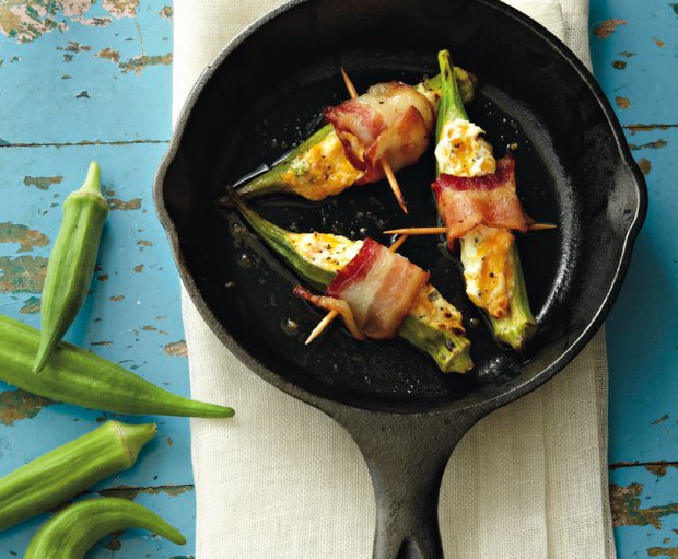 Cheese And Bacon Okra Poppers Recept | Yummly