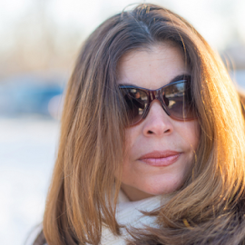 Outdoor Portrait of Beautiful Middle Age Woman by Roberto Machado Noa - People Street & Candids ( expression, face, person, copyspace, one, mid age, beauty, long, people, pretty, middle, hispanic, 35-40, looking, modern, real, latino, woman, attractive, lifestyle, age, casual, looking at camera, hair, closeup, peaceful, wearing, beautiful, adult, middle aged, sunglasses, forties, middle-aged, joyful, mature adult, winter, textspace, latin, female, confident, mature, contemporary, lady, straight, 40s )