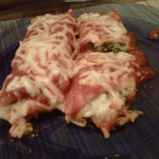 Spinach Cheese Manicotti (Meatless)