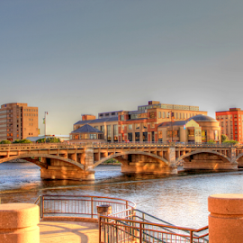 Grand Rapids by Dipali S - City,  Street & Park  Historic Districts ( grand river, buildings, grand rapids, bridge, historic )