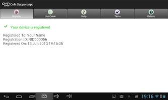 Screenshot of CnM Support Widget
