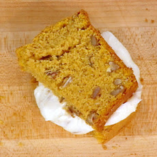 Pumpkin Bread Sandwich with a Pumpkin Seed and Cream Cheese Filling