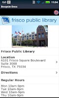 Screenshot of Frisco Public Library