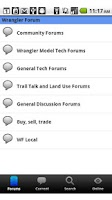 Screenshot of Wrangler Forum Jeep Community