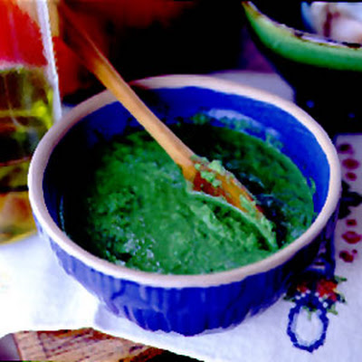Green Chile and Cilantro Sauce