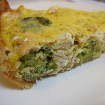 Dairy Free Turkey Broccoli Quiche