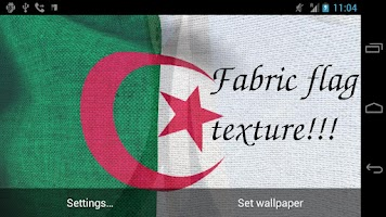Screenshot of 3D Algeria Flag LWP +