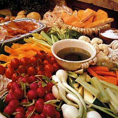 Fresh Vegetable Platter with Olive Oil Dip