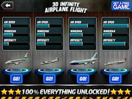Screenshot of 3D Infinite Airplane Flight
