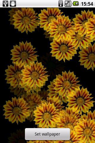 Yellow Flower Live Wallpaper