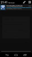 Screenshot of Sports Tracker Export