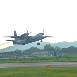 take off at guwahati.india by Sethi Kc - Transportation Airplanes ( take off at guwahati.india,  )