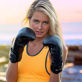 Lets punch by Helena Lindgren - Sports & Fitness Fitness ( boxing fitness sunrise beach goal )