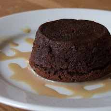 Molten Chocolate Cakes with Irish Cream