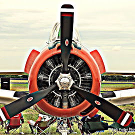 Vintage fighter from Denton Airshow by Mark Porter - Transportation Airplanes