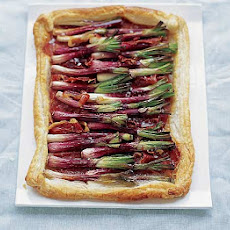 Red onion & Serrano ham tart