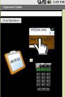 Screenshot of Clipboard Dialer