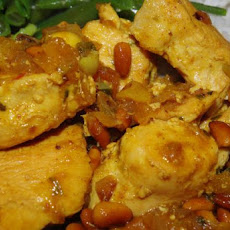 Chicken Tagine With Apricots and Spiced Pine Nuts