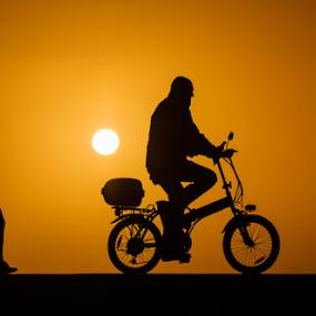 Sports at sunset by Yuval Shlomo - Sports & Fitness Cycling