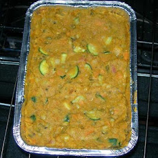 Curried Mung Beans With Rhubarb and Yams