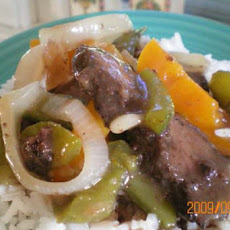 Steakhouse Onion Beef & Pepper Stir-Fry